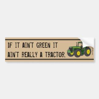 Pegatina Para Coche No un tractor si no es verde