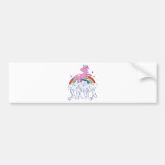 Pegatina Para Coche Nombre del unicornio de Ana