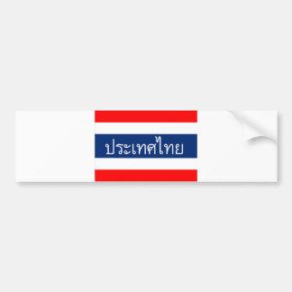 Pegatina Para Coche nombre tailandés del texto del país de la bandera