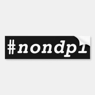 Pegatina Para Coche #nondpl