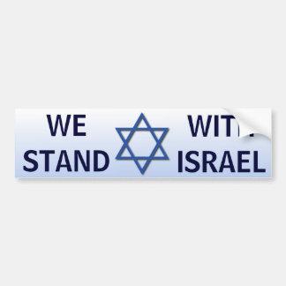 Pegatina Para Coche Nos colocamos con Israel