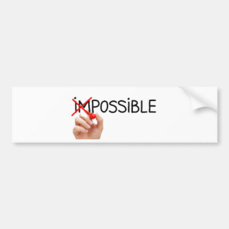 Pegatina Para Coche Nothing is Impossible