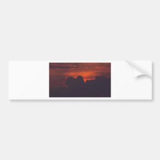 Pegatina Para Coche Nubes anaranjadas púrpuras de la puesta del sol