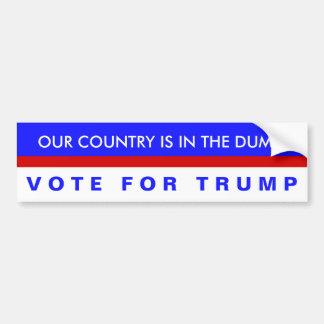 Pegatina Para Coche ¡Nuestro país está en la descarga, voto para el