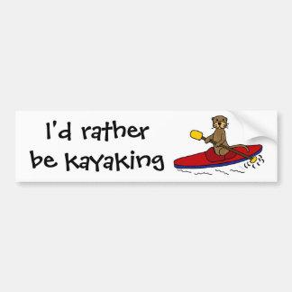 Pegatina Para Coche Nutria divertida Kayaking