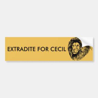 Pegatina Para Coche Obtenga la extradición para Cecil