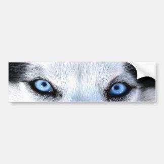 Pegatina Para Coche Ojos azules del husky siberiano