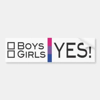 Pegatina Para Coche Orgullo sí bisexual de los chicas LGBT de los