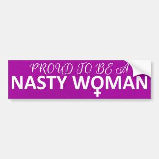 Pegatina Para Coche Orgulloso ser una mujer desagradable