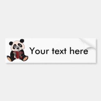 Pegatina Para Coche Oso de panda divertido que juega el acordeón