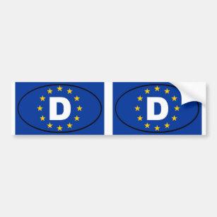 Pegatina Para Coche Óvalo de la unión europea de Alemania Deutschland