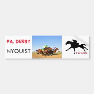 Pegatina Para Coche PA de Nyquist. Derby