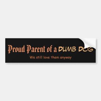 Pegatina Para Coche Padre orgulloso de un perro