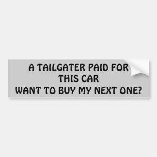 Pegatina Para Coche ¿Paga de Tailgater para mi coche siguiente?