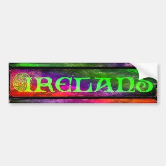 Pegatina Para Coche País de irlandés bordador, pegatina, arco iris, de