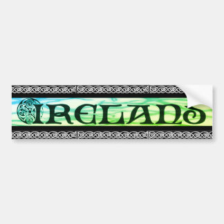 Pegatina Para Coche País de irlandés bordador, pegatina, nudo celta,