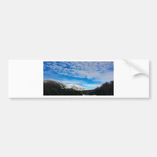 Pegatina Para Coche Paisaje blanco del cielo azul de la montaña