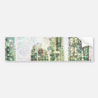 Pegatina Para Coche Paisaje urbano y bosque
