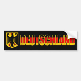 Pegatina Para Coche Parachoque de Deutschland