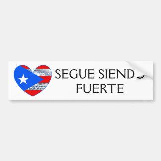 Pegatina Para Coche Parachoque de Maria del huracán de la bandera de