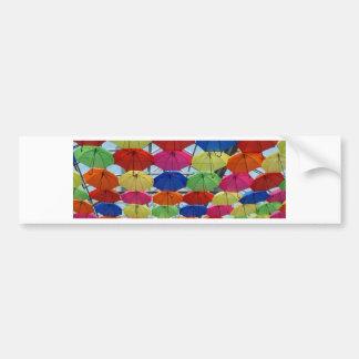 Pegatina Para Coche paraguas colorido