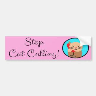 Pegatina Para Coche Pare la llamada del gato, el feminismo y las