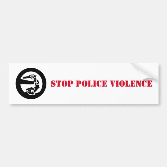 Pegatina Para Coche Pare la violencia de la policía
