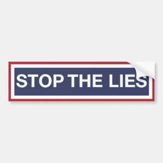 Pegatina Para Coche Pare las mentiras