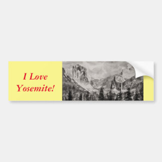 Pegatina Para Coche Parque de Yosemite en invierno