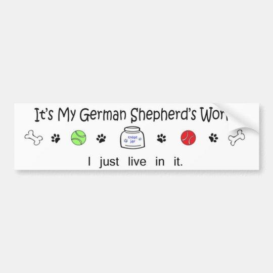 Pegatina Para Coche pastor alemán