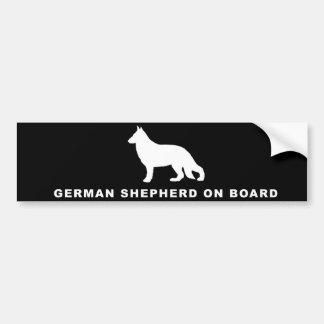 Pegatina Para Coche pastor alemán a bordo