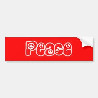 Pegatina Para Coche Paz