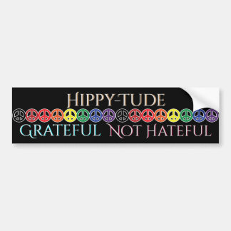 Pegatina Para Coche Paz agradecida de la actitud de Hippytude