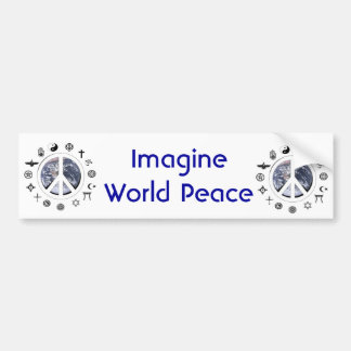 Pegatina Para Coche Paz de mundo