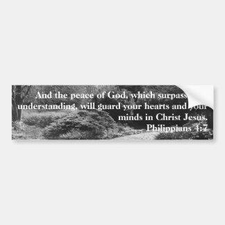 Pegatina Para Coche Paz del jardín del blanco del negro del 4:7 de los