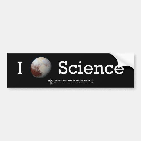 Pegatina Para Coche (Pegatina de la ciencia I del corazón de Plutón)