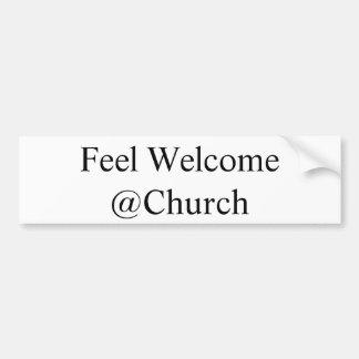 "Pegatina Para Coche ""Pegatina del @Church agradable de la sensación"""