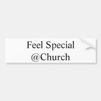 "Pegatina Para Coche ""Pegatina del @Church especial de la sensación"""