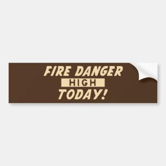 Pegatina Para Coche Peligro del fuego alto hoy