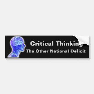 Pegatina Para Coche Pensamiento crítico