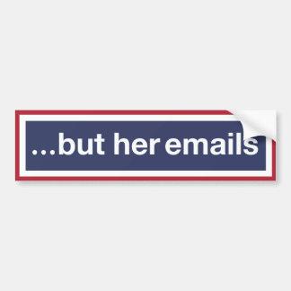 Pegatina Para Coche … pero sus correos electrónicos