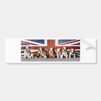 Pegatina Para Coche Perritos ingleses del dogo