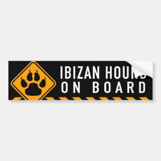 Pegatina Para Coche Perro de Ibizan a bordo