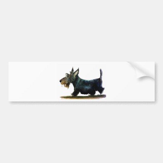 Pegatina Para Coche Perro del escocés