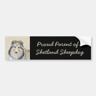 Pegatina Para Coche Perro pastor de Shetland