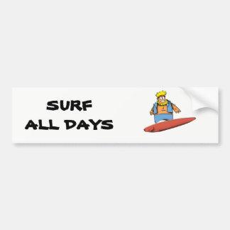 Pegatina Para Coche Persona que practica surf feliz