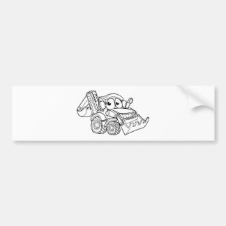 Pegatina Para Coche Personaje de dibujos animados del cavador de la