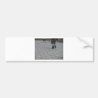 Pegatina Para Coche Piernas del individuo en patines en línea.