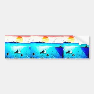 Pegatina Para Coche Pintura de escena subacuática hermosa