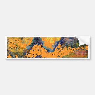 Pegatina Para Coche Pintura de paisaje occidental de los álamos
